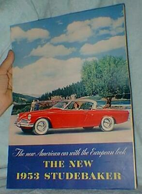 Original Studebaker 1953 Advertising  Large Magazine
