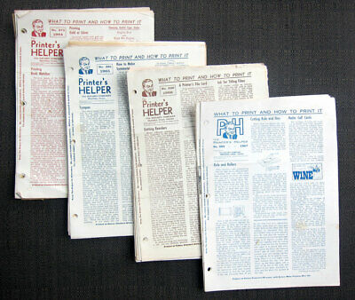 """""""The Printer's Helper"""" - 47 Issues - 1964-1973 - Kelsey Printing Press Company"""