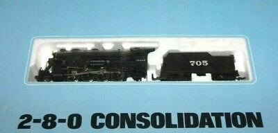 RARE Bachmann HO Scale Consolidation and Tender 2-8-0 SANTA FE Railroad A.T.&S.F
