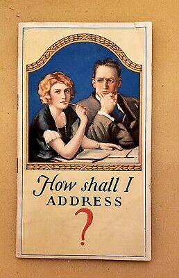 """Mid 1920s """"How Shall I ADDRESS?"""" Booklet by Carter Inx Products - Paperback"""