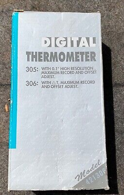 Extech 421306 Dual input digital thermometer (no thermocouples)