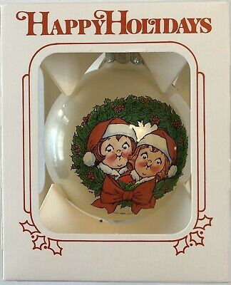 1981 Campbells Soup Collectible Glass Christmas Ornament w/Box Rare!!!
