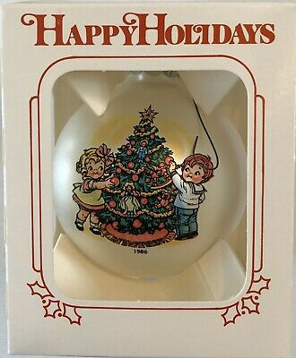 1986 Campbells Soup Collectible Glass Christmas Ornament w/Box Rare!!!