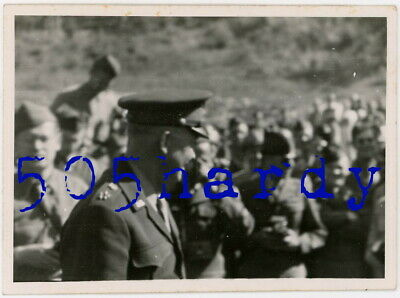 WWII US GI Photo General Dwight D. Eisenhower w/ Ringed 5 Star Shoulder Insignia