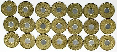 Lot of 21 - NYC Transit Authority Tokens New York City