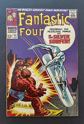 Fantastic Four #55 1966 Silver Surfer F+ No Reserve
