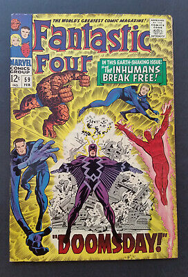 Fantastic Four #59 1967 Inhumans Dr. Doom Silver Surfer F+ No Reserve