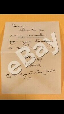 Carole Lombard handwritten/signed (autograph) personal notecard with COA.