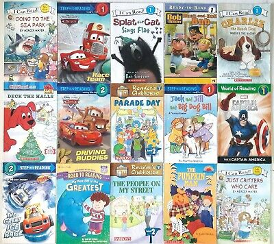Lot of 15 First Time LEVEL 1 Books~Step Into Reading READY TO READ I Can Read AR