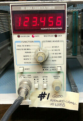Tested Tektronix Dc504A Frequency Counter Timer Good Working #1