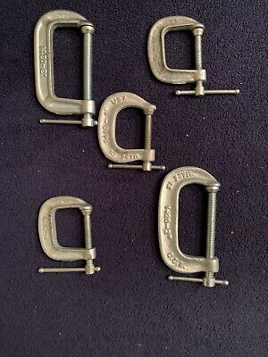 """Five ADJUSTABLE Brand 1420 """"C"""" Clamps,2"""" Capacity,Excellent Condition."""