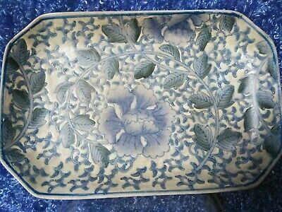 ALTAR FITTING TRAY PLATE BLUE& WHITE KABIN Chinese Porcelain Asian Statue Figure