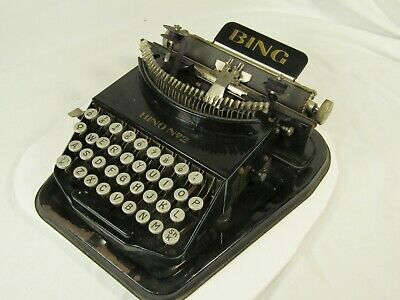Antique Bing No. 2 Portable Typewriter Made in Germany Art Deco