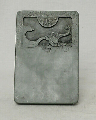 Chine  Carved  Celadon  Ink  Stone    M3643