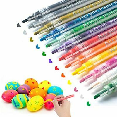 Acrylic Paint Pens for Easter Eggs Rocks Wood Glass Ceramic Canvas Painting Art
