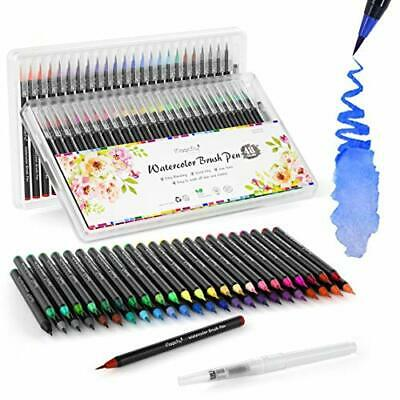 Water Color Brush Pens, Magicfly 48 Colors Brush Pens Set with 1 Refillable