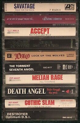 10x HEAVY METAL Cassette Tape Lot: RARE Death Angel Savatage Torment Cathedral