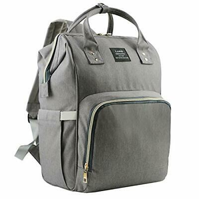 Harmony Life Land Baby Diaper Bag Large Capacity Mommy Backpack (Dark Grey)