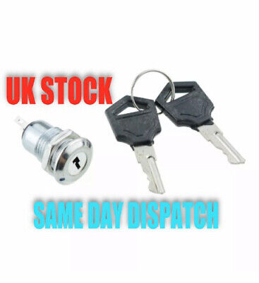 On/Off Metal Security Key Switch Lock + Keys 2 Position SPST 12V Car Boat Other