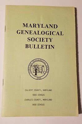1800 Census Prince George's County, Maryland by MD Genealogical Society Bulletin