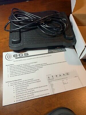 ECS VLC FP USB Foot Pedal for use with VLC Media Player fast free shipping