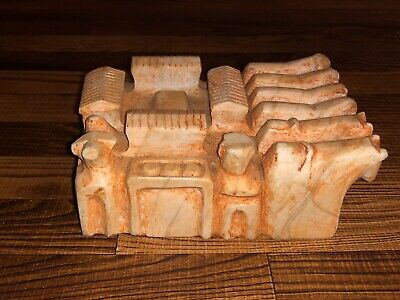 Large Historic Andean South American Native Indian Carved STONE HAMLET FETISH