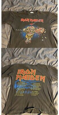 IRON MAIDEN 1988 EURO TOUR T SHIRT seventh Son Monsters Of Rock Vintage SIZE S