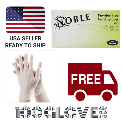 Vinyl Powdered Free Multi-Purpose Gloves, Medium, Latex Free Large - 100 Box