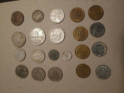 Lot of 21 German Coins