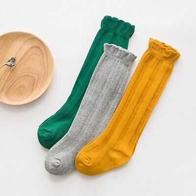 Baby Kids Girls Knee High Socks Bow Toddlers Party School Stockings ch-