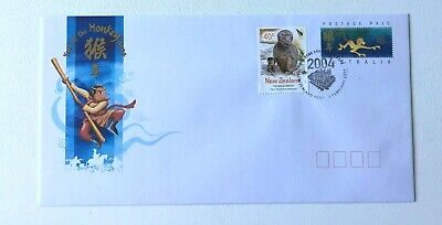 HK30) Hong Kong 2004 Stamp Expo Year of the Monkey FDC