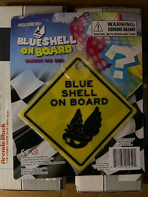 Blue Shell Onboard Hanging Car Sign