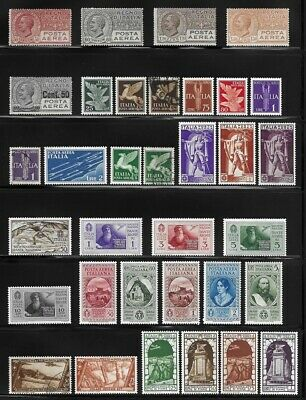 Collection of Old Airmail Stamps from Italy . . . . . . 3 pages