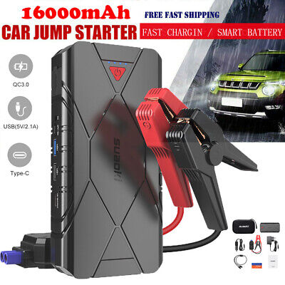 1200A 16000mAh Car Jump Starter Battery Charger Booster Engine Rescue Power Bank