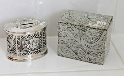 """Silver Plated """"Carousel"""" Money Box - NEW IN BOX"""
