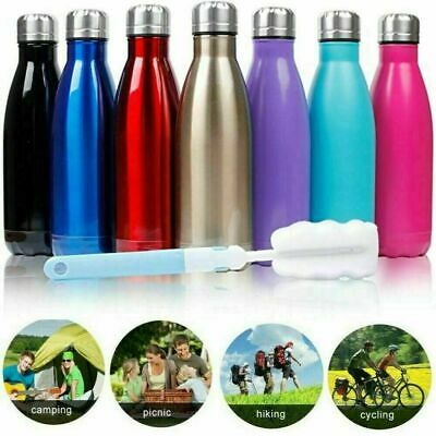 0.35-1L Stainless Steel Water Bottle Insulated Metal Sport Gym Thermal Thermos