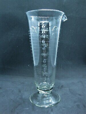 Vintage ARMSTRONG Measuring Glass APOTHECARY Pharmaceutical Etched 8 OZ
