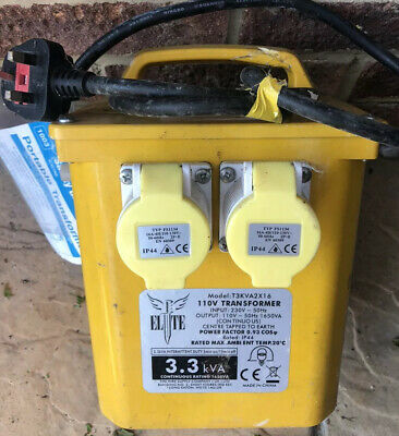 Elite 3.3KVA Power Tool Rated Site Transformer *Collection Only Swindon*