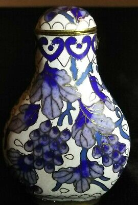Ming? Qing Imperial Chines Cloisonne On Bronze Opium Jar Sniff Bottles Vase Sign