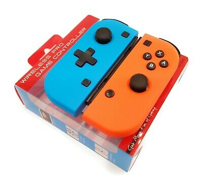Joycon wireless pro game switch Controllers neon red and neon blue