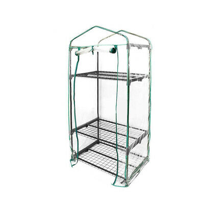 PVC Plastic 3 layer Walk In Outdoor Greenhouse Cover - NO SHELVES