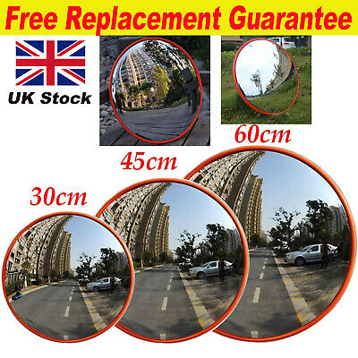 Traffic Wide Angle Security Curved Convex Road Mirror 150 Degrees 30cm 45cm 60cm