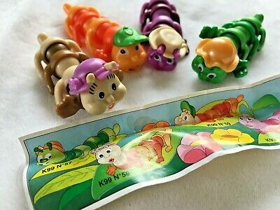 Vintage Kinder Surprise Toy Collection -K96 Mini Insect Bug  Lot Of 4