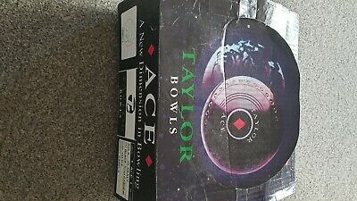brand new set of taylor ace bowls size 0 wt heavy col black rings cashew emblem