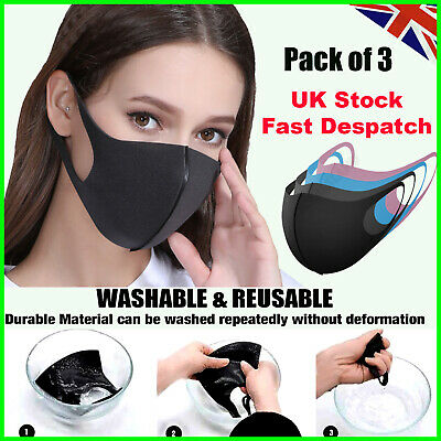 Everyday use Breathable Washable Reusable Face Masks ✅Nose Mouth Cover UK Stock