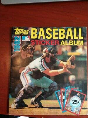 Baseball/Football sticker albums from 80s (Lot of 8)