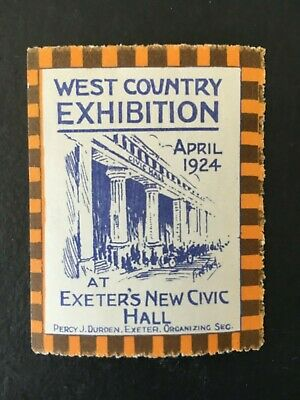 West Country Exhibition Exeter 1924 Label Cinderella Lmh