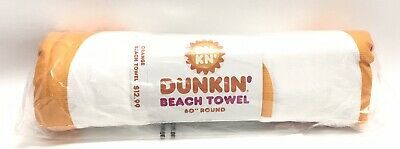 Dunkin Donuts Limited Edition 60inch  Round Beach Towel New New  (Orange)