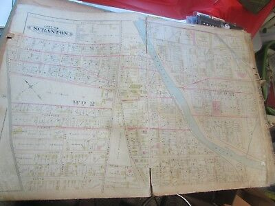City Of Scranton - 1898 City Map Ward 2,13  Scranton Lace, Scranton Forging (#7)