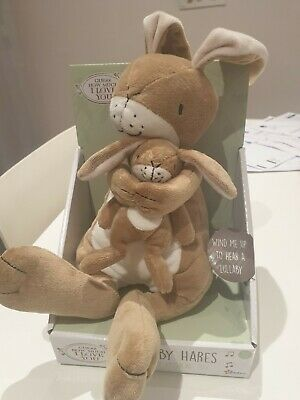 GUESS HOW MUCH I LOVE YOU LULLABY HARES SOFT TOY WIND UP MUSICAL brand new